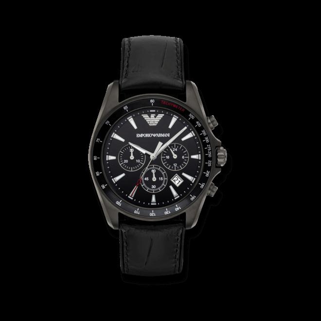 Herrenuhr Emporio Armani Sigma Chrono 44mm mit schwarzem Zifferblatt