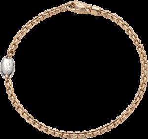 Armband Fope Eka Tiny aus 750 Roségold und 750 Weißgold