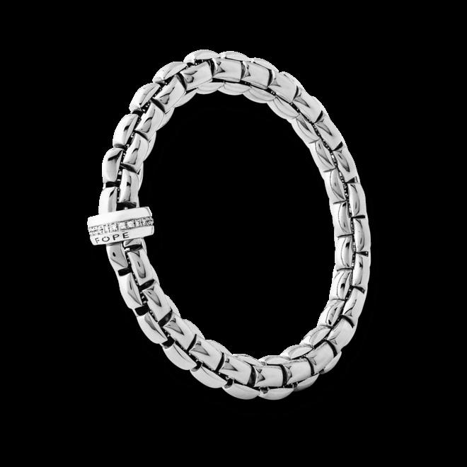 Armband Fope Flex'it Eka aus 750 Weißgold mit mehreren Brillanten (0,21 Karat) Größe S