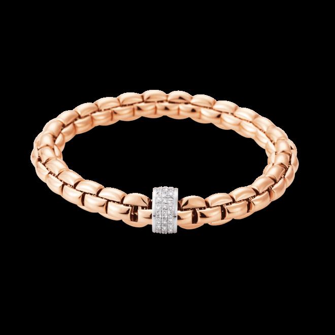 Armband Fope Flex'it Eka aus 750 Roségold mit mehreren Brillanten (0,63 Karat) Größe L