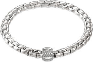 Armband Fope Flex'it Eka aus 750 Weißgold mit mehreren Brillanten (0,24 Karat) Größe M