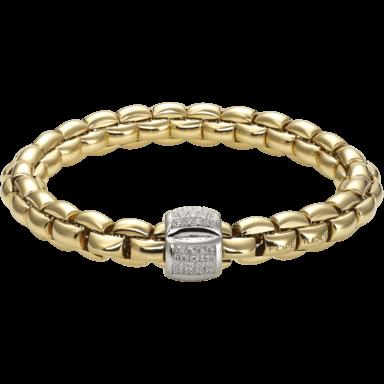 Fope Armband Flex'it Eka Gelbgold 602B-PAVEL_GG