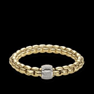 Fope Armband Flex'it Eka Gelbgold 602B-PAVEM_GG