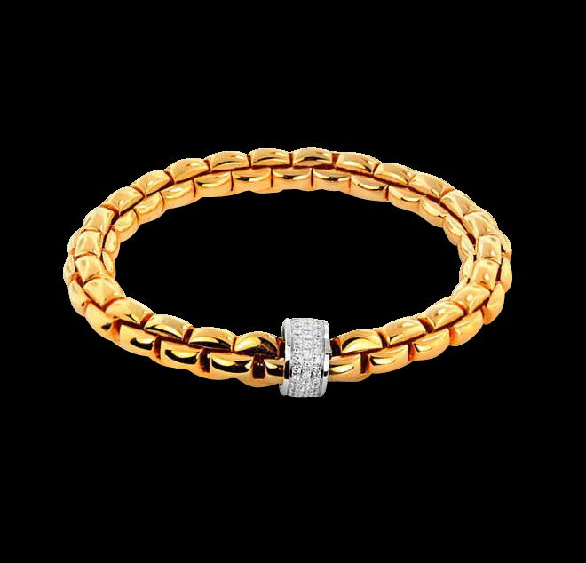 Armband Fope Flex'it Eka Gelbgold aus 750 Gelbgold mit mehreren Brillanten (0,63 Karat) Größe L