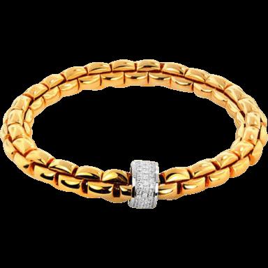 Fope Armband Flex'it Eka Gelbgold 604B-PAVEM_GG