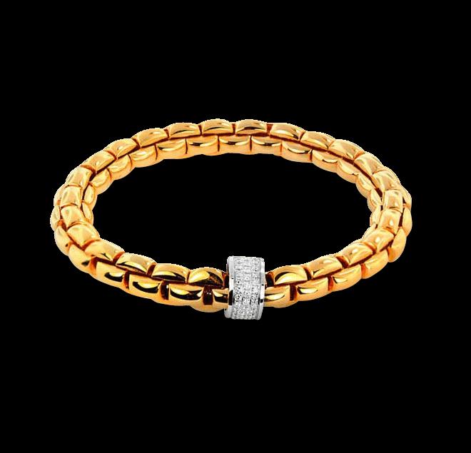 Armband Fope Flex'it Eka Gelbgold aus 750 Gelbgold mit mehreren Brillanten (0,63 Karat) Größe S