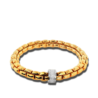 Fope Armband Flex'it Eka Gelbgold 604B-PAVEXL_GG