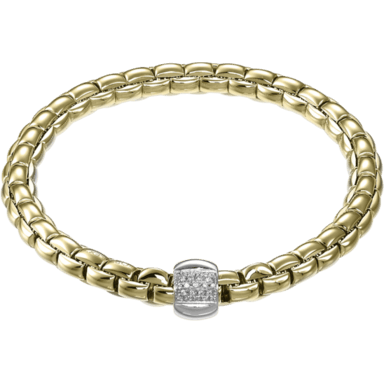 Fope Armband Flex'it Eka Gelbgold 701B-BBRM_GG