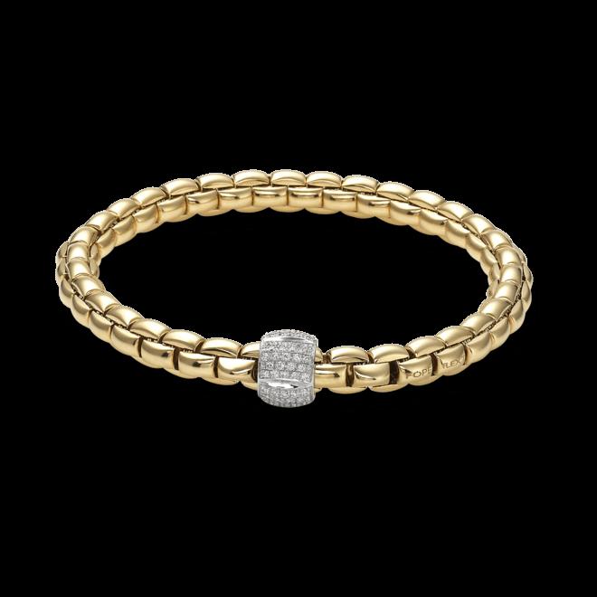 Armband Fope Flex'it Eka Gelbgold aus 750 Gelbgold mit mehreren Brillanten (0,49 Karat) Größe L