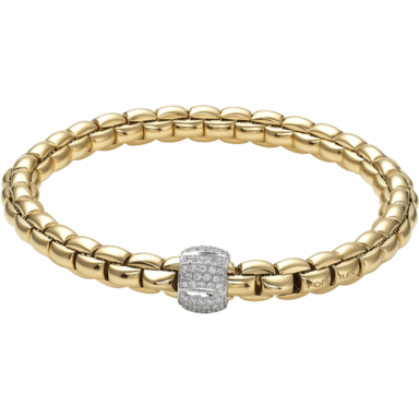 Fope Armband Flex'it Eka Gelbgold 701B-PAVEM_GG