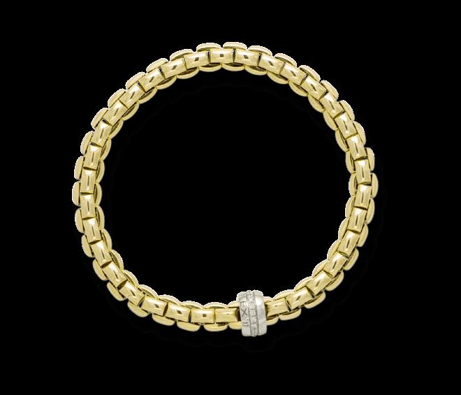 Armband Fope Flex'it Eka Gelbgold aus 750 Gelbgold und 750 Weißgold mit mehreren Brillanten (0,18 Karat) Größe M