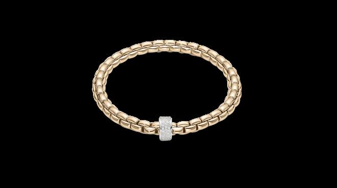Armband Fope Flex'it Eka Gelbgold aus 750 Gelbgold und 750 Weißgold mit mehreren Diamanten (0,53 Karat) Größe L