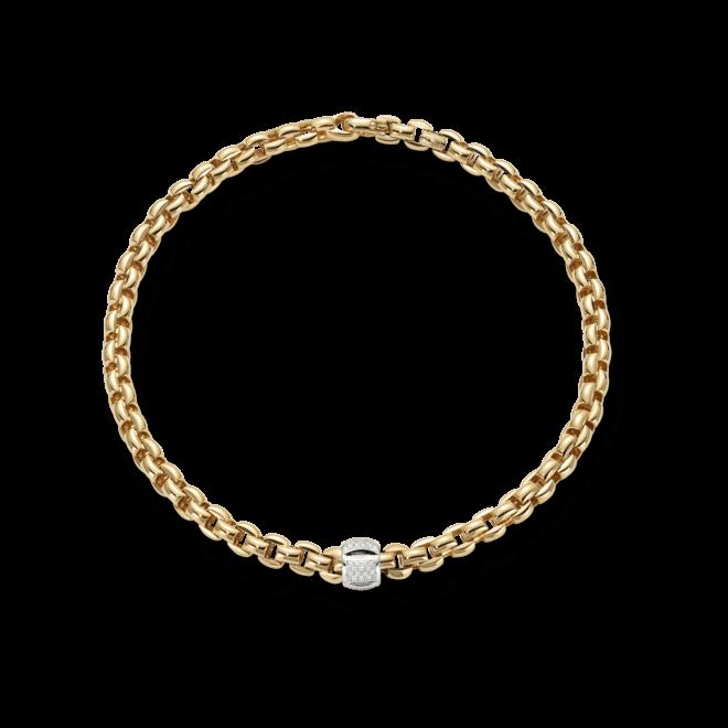 Halskette Fope Flex'it Eka Gelbgold aus 750 Gelbgold mit mehreren Brillanten (0,5 Karat)