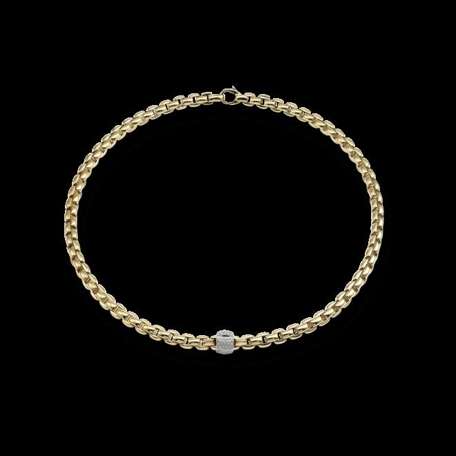 Halskette Fope Flex'it Eka Gelbgold aus 750 Gelbgold mit mehreren Brillanten (0,49 Karat)
