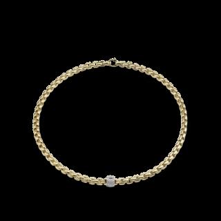 Fope Halskette Flex'it Eka Gelbgold 701C-PAVE_GG