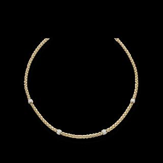 Fope Halskette Flex'it Eka Gelbgold 701C-PAVE4-800_GG