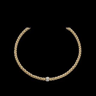 Fope Halskette Flex'it Eka Gelbgold 704C-PAVE_GG
