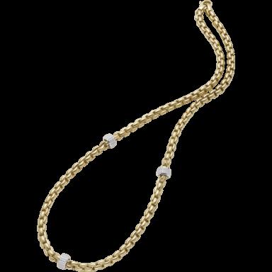 Fope Halskette Flex'it Eka Gelbgold 706C-PAVE_GG