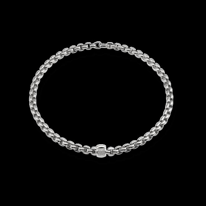 Halskette Fope Flex'it Eka aus 750 Weißgold mit mehreren Brillanten (0,25 Karat)