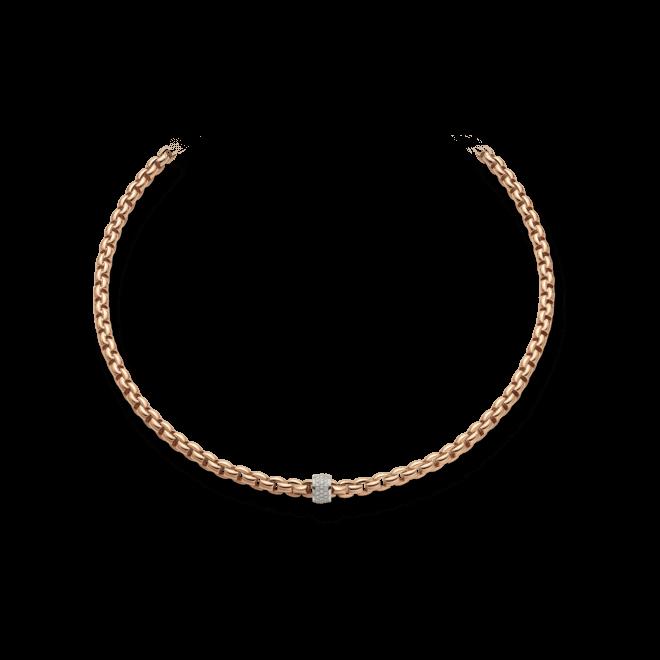Halskette Fope Flex'it Eka aus 750 Roségold und 750 Weißgold mit mehreren Brillanten (0,63 Karat)