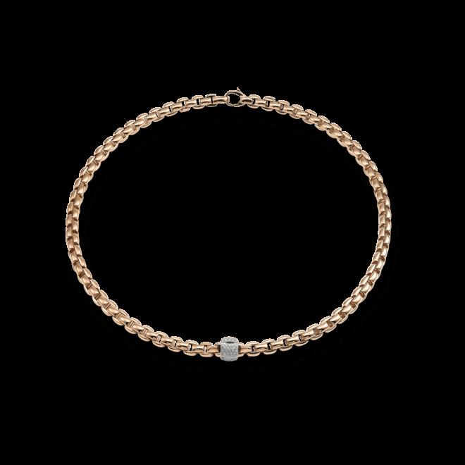 Halskette Fope Flex'it Eka aus 750 Roségold mit mehreren Brillanten (0,49 Karat)
