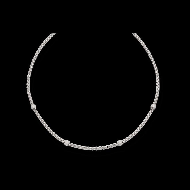 Halskette Fope Flex'it Eka aus 750 Weißgold mit mehreren Brillanten (1,95 Karat)