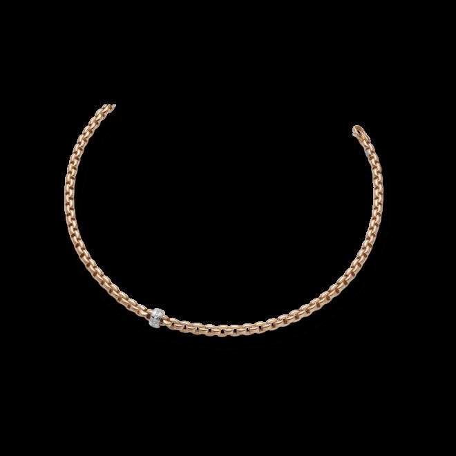 Halskette Fope Flex'it Eka aus 750 Roségold mit mehreren Brillanten (0,18 Karat)