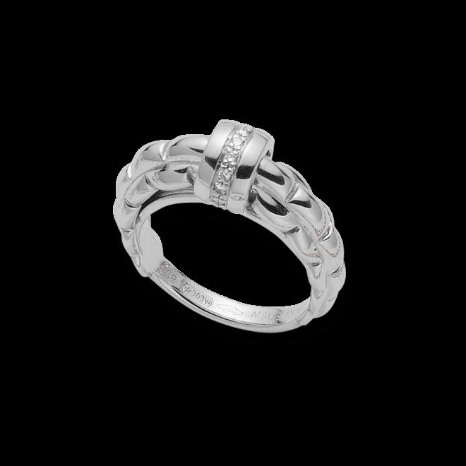 Ring Fope Flex'it Eka aus 750 Weißgold mit mehreren Diamanten (0,13 Karat)