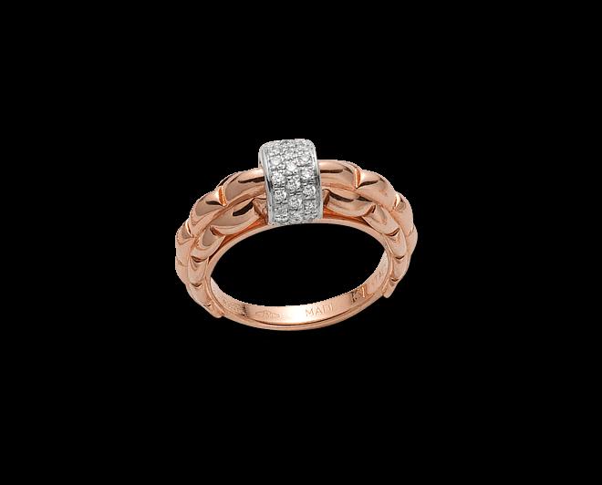 Ring Fope Flex'it Eka aus 750 Roségold mit mehreren Diamanten (0,4 Karat)