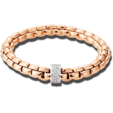 Fope Armband Flex'it Eka Roségold 604B-PAVEL_RG