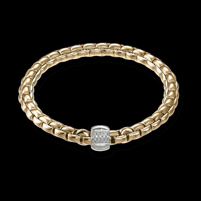 Armband Fope Flex'it Eka Roségold aus 750 Roségold mit mehreren Brillanten (0,24 Karat) Größe L