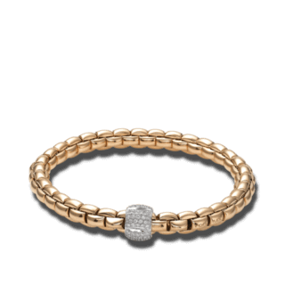Fope Armband Flex'it Eka Roségold 701B-PAVES_RG