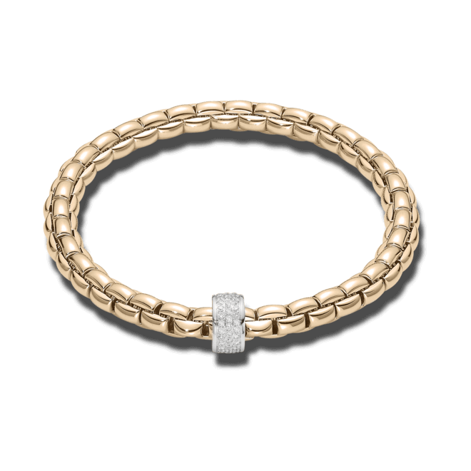 Armband Fope Flex'it Eka Roségold aus 750 Roségold mit mehreren Brillanten (0,53 Karat) Größe L