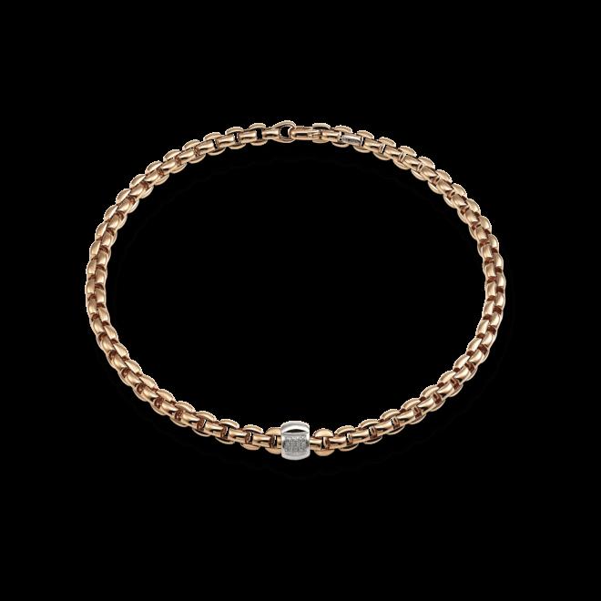 Halskette Fope Flex'it Eka Roségold aus 750 Roségold und 750 Weißgold mit mehreren Brillanten (0,25 Karat)