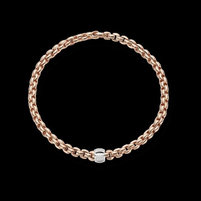 Halskette Fope Flex'it Eka Roségold aus 750 Roségold mit mehreren Brillanten (0,5 Karat)