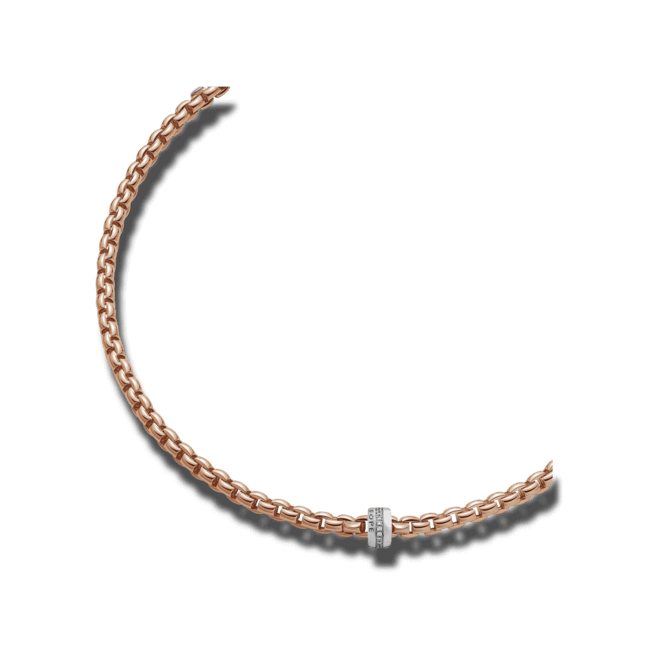 Halskette Fope Flex'it Eka Roségold aus 750 Roségold mit mehreren Brillanten (0,2 Karat)