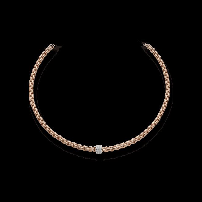 Halskette Fope Flex'it Eka Roségold aus 750 Roségold mit mehreren Brillanten (0,53 Karat)