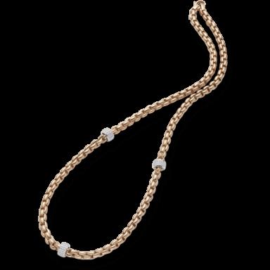 Fope Halskette Flex'it Eka Roségold 706C-PAVE_RG