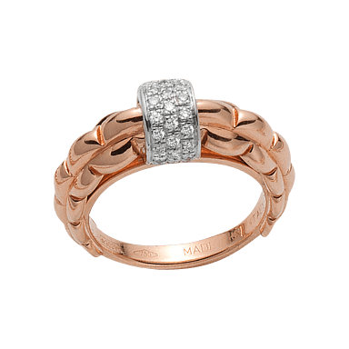Fope Ring Flex'it Eka Roségold AN290-PAVE_RG