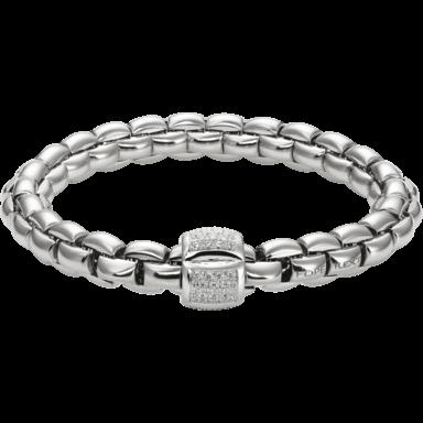 Fope Armband Flex'it Eka Weißgold 602B-PAVEM_WG