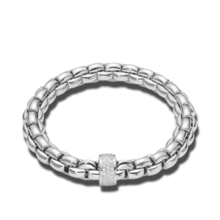 Fope Armband Flex'it Eka Weißgold 604B-PAVEM_WG