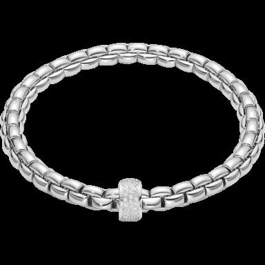 Fope Armband Flex'it Eka Weißgold 704B-PAVEM_WG