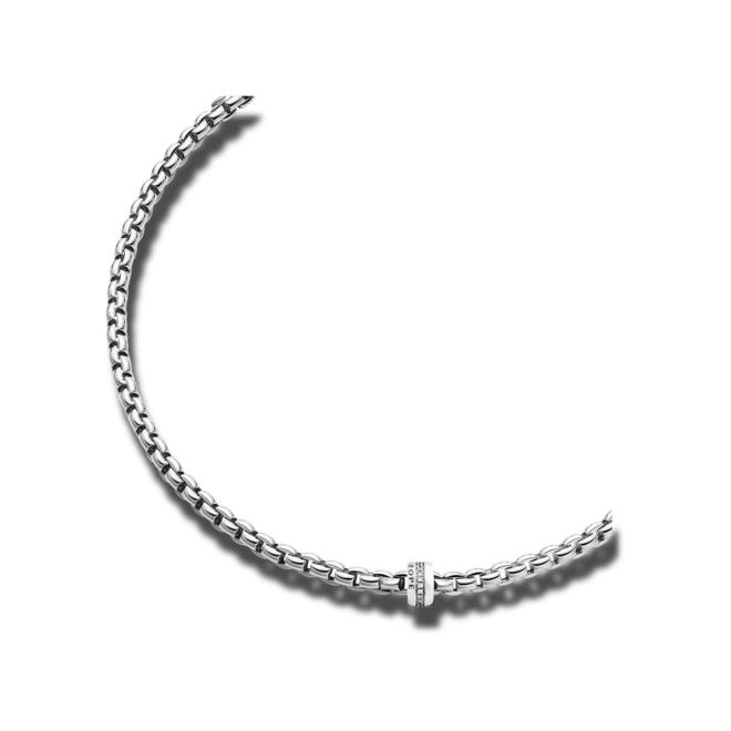 Halskette Fope Flex'it Eka Weißgold aus 750 Weißgold mit mehreren Brillanten (0,2 Karat)