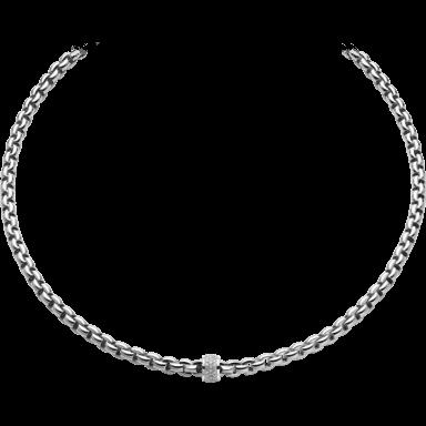 Fope Halskette Flex'it Eka Weißgold 604C-PAVE_WG