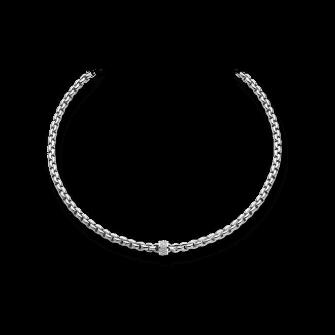 Halskette Fope Flex'it Eka Weißgold aus 750 Weißgold mit mehreren Brillanten (0,63 Karat)