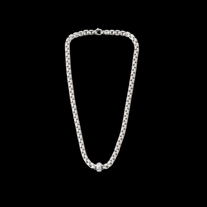 Halskette Fope Flex'it Eka Weißgold aus 750 Weißgold mit mehreren Diamanten (0,18 Karat)