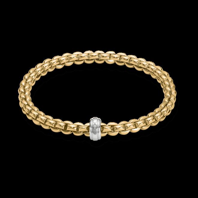 Armband Fope Flex'it Olly aus 750 Gelbgold und 750 Weißgold Größe M