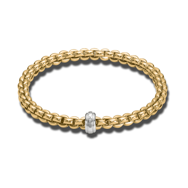 Armband Fope Flex'it Olly aus 750 Gelbgold und 750 Weißgold Größe S