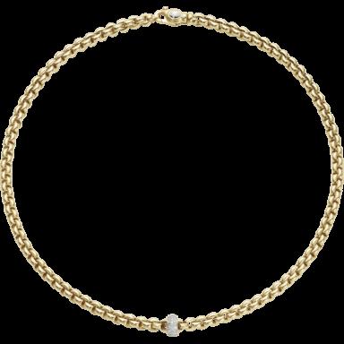 Fope Halskette Flex'it Olly Gelbgold 721C-PAVE_GG