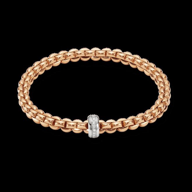Armband Fope Flex'it Olly Roségold aus 750 Roségold und 750 Weißgold mit mehreren Brillanten (0,15 Karat) Größe XS